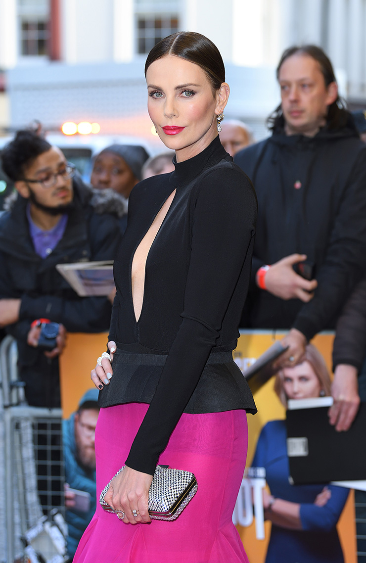 Charlize Theron pink