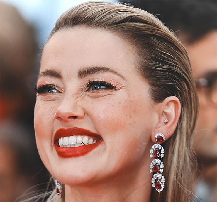 Amber Heard sardinhas fake Cannes 2019